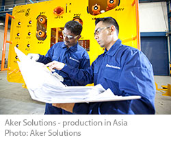 Aker Solutions - production in Asia