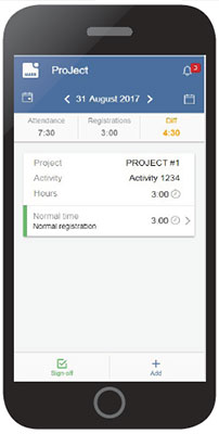 Project registration on ProMobile